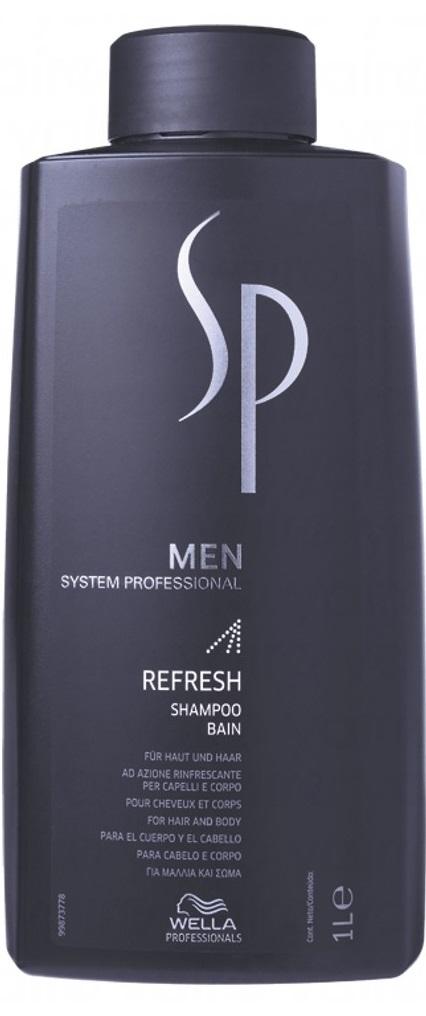 Wella Professionals SP Men Refresh Shampoo (M) szampon odświeżający do włosów i ciała 1000ml