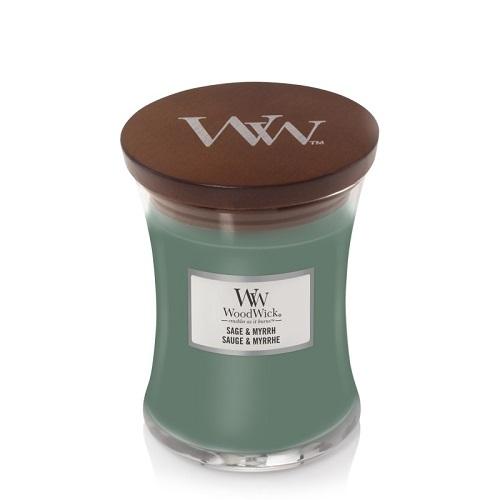WoodWick Sage & Myrrh świeca zapachowa 275g