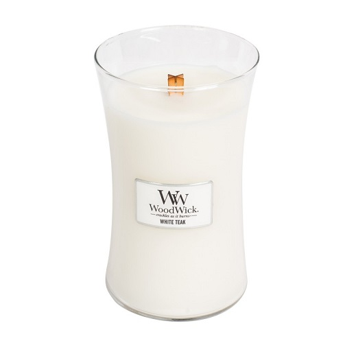 WoodWick White Teak świeca zapachowa 609g